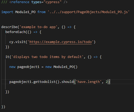 implement page object model