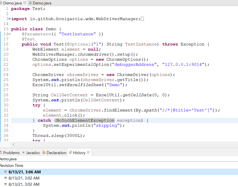 How to trace overridden content in eclipse
