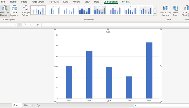 how to create Excel Charts